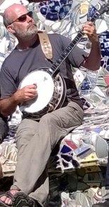 Ian Carmichael playing 5-string banjo