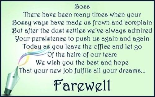 essay farewell speech farewell speech for boss on transfer or