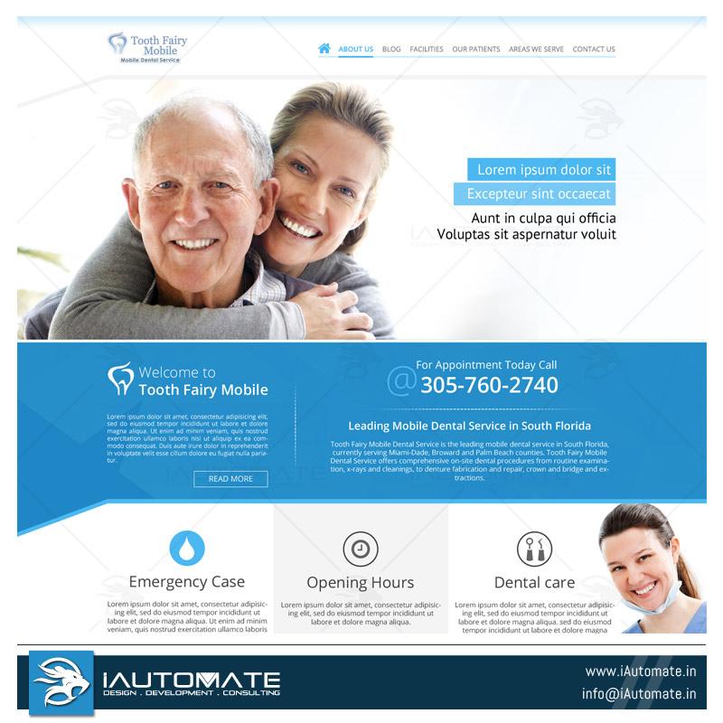 Dentist website template iAutomate