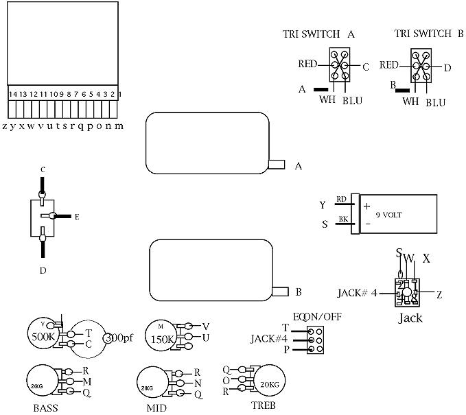 wiring diagram for free download soundgear bass guitar