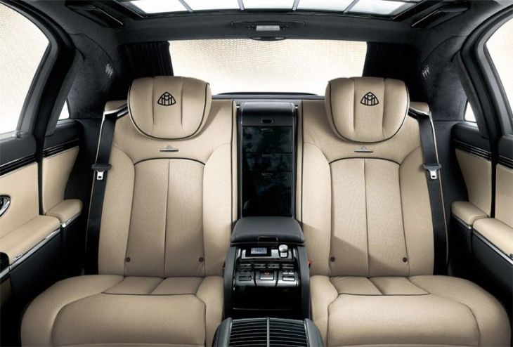 Maybach-62S-interior-rear seat- biege leather interiors