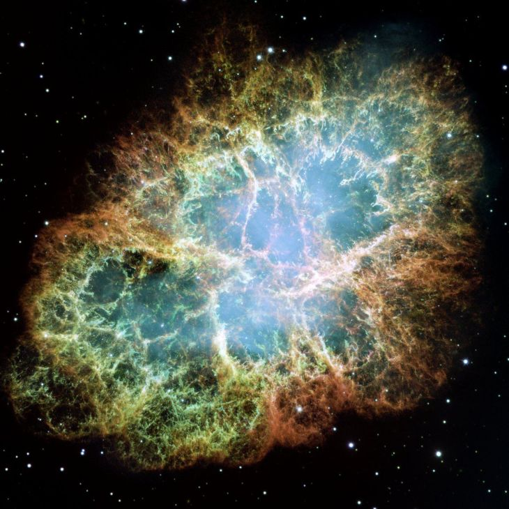 during-the-mid-90s-hubble-was-in-the-middle-of-a-race-between-to-scientific-teams-using-it-to-measure-the-distance-to-supernova-explosions-to-determine-the-expansion-rate-of-the-universe-this-is-a-hubble-image-of-the-crab
