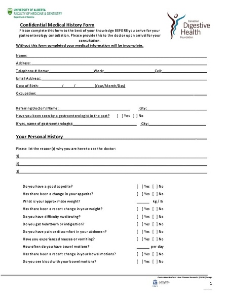 Medical History Form sample medical history template - 9+ free - employment history template