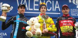 Podio elite Copa de España ciclocross 2014