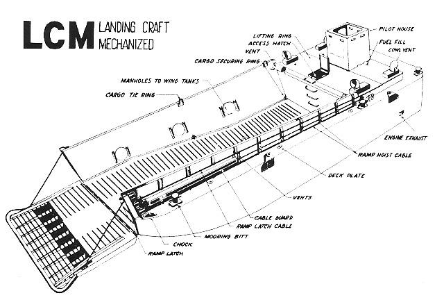 lcvp boat diagram