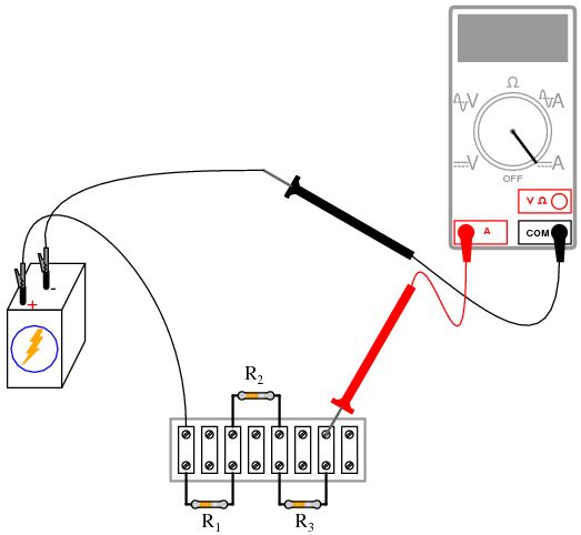 connect a simple circuit with voltmeter and ammeter as shown