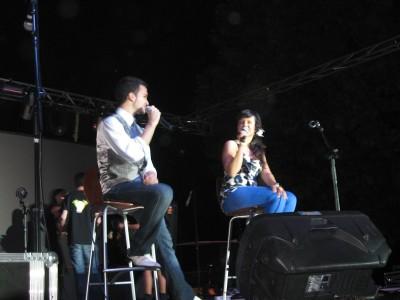 Presentadores Oscar y Lorena