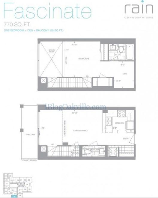 Fascinate Loft - 1 bedroom + den 770sf