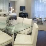 Rain Condos - model suite dining area