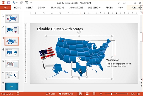 editable maps for powerpoint free maps for powerpoint free free - us map ppt template