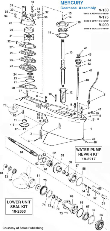 mercury outboard 2 5 and 3 0l v6 and gearcase faq