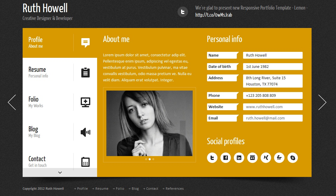 Reasons to have your own personal Vcard website iBox Solutions - personal resume website example