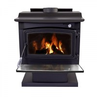 Pleasant Hearth Large Wood Burning Stove with Pedestal ...