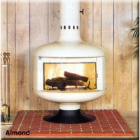 Malm Fire Drum 2 w/screen Wood Burning or Gas Fireplace FD2