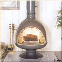 Malm Fire Drum 3 w/screen Wood Burning or Gas Fireplace FD3