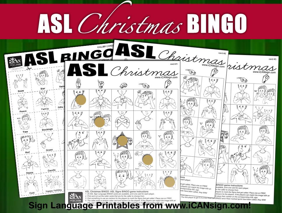 ASL Christmas BINGO Baby Sign Language