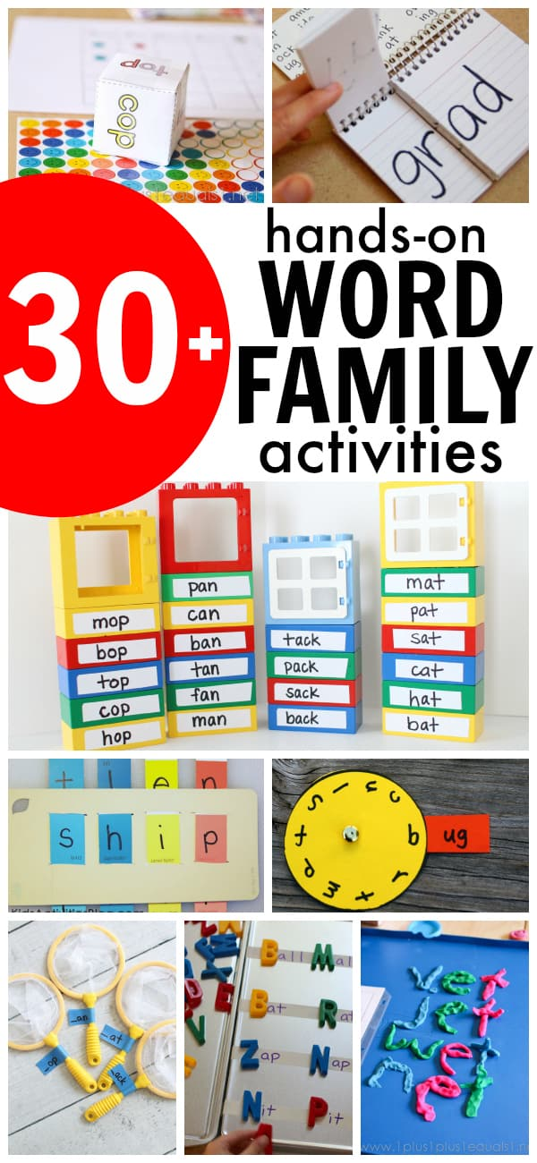 30+ Hands-On Word Family Activities - I Can Teach My Child! - on word