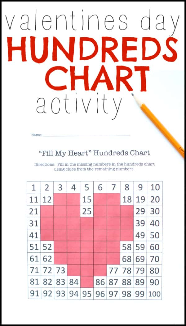 Valentines Day Hundreds Chart Activity - I Can Teach My Child! - hundreds chart