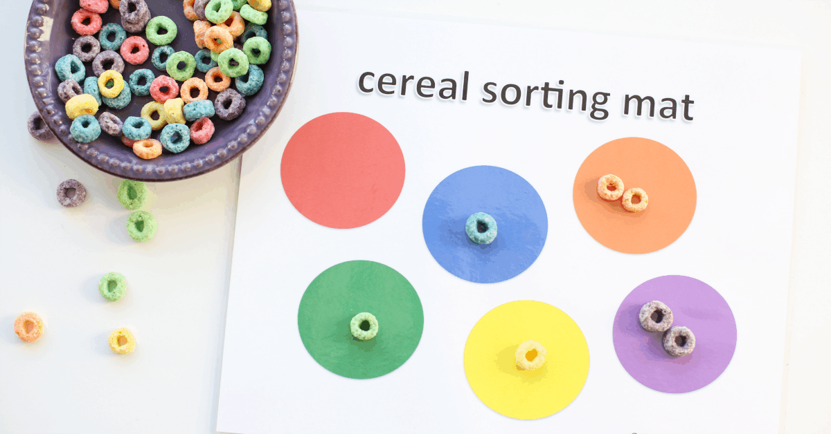 Printable Cereal Sorting Mat I Can Teach My Child