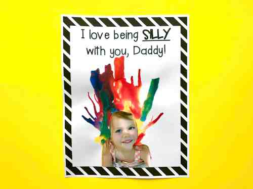 Fetching Daddy Silly Day Blow Painting I Love Being Silly Printable Questionnaire I Can Far S Day Questionnaire Preschool Far S Day Questionnaire Editable