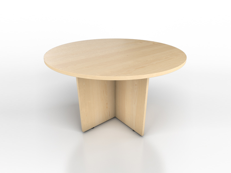 Maple Round Meeting Table Icarus Office Furniture