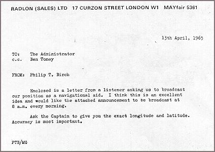 Rare pictures from radio\u0027s past Radio London (14 Memos and meetings)