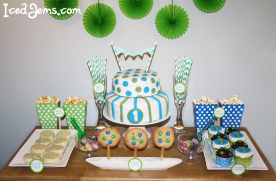 Blue and Green 1st Birthday Theme - blue and green birthday party