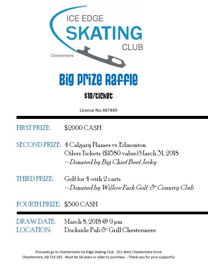 Big Prize Raffle Winter 2018  Ice Edge Skating Club