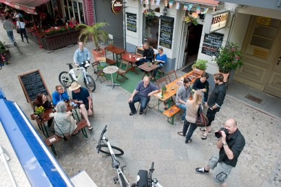 Get-together at RedsDeli on the evening before we departed from Berlin (SB)