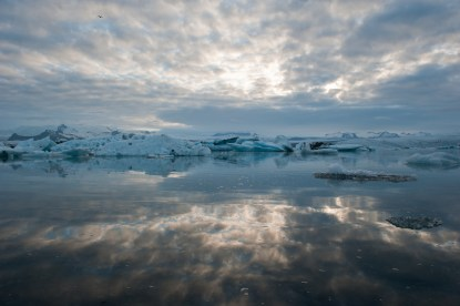 Icebergs float up to 5 years in the lagoon (SB)