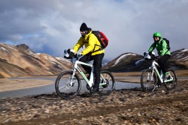 Riding through the spectacular landscape of Landmannalaugar (AG)