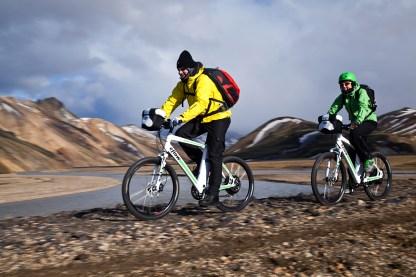 Riding through the spectacular landscape of Landmannalaugar (AG)