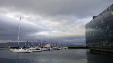 Harpa, Reykjavík's sparkling new concert hall and cultural center next to the sailing harbor (OV)