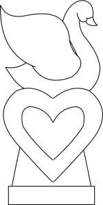Swan on a heart Template