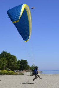 Paragliding Takeoff at beach