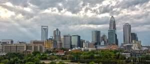 Charlotte NC Uptown Skyline View