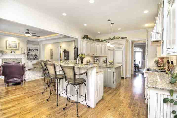 Stunning gourmet kitchen in this south Charlotte luxury home in Kingsmead