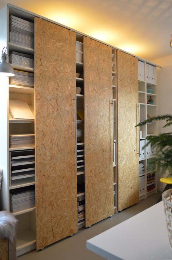 DIY Schiebetüren Für IKEA Billy Regale Selber Machen   Designer Bucherregal  Osb Platten