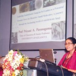 Prof. Priyani Paranagama delivering the  Dr. C L de Silva Gold medal award oration at annual session 2015
