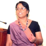 Prof. Sagarika Ekanayake presenting at technical sessions 2015