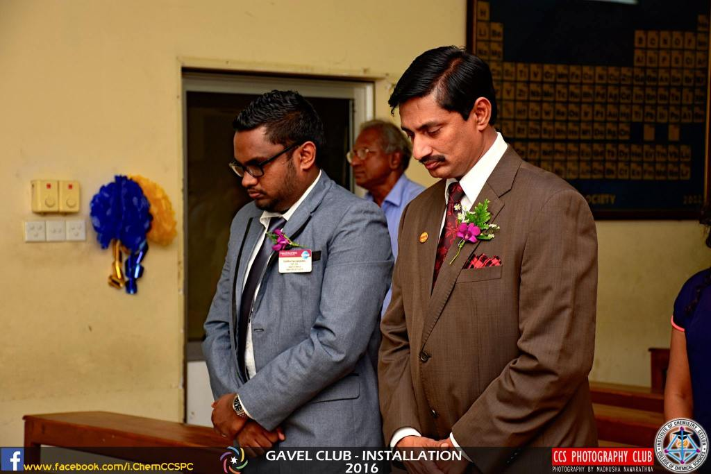 Chief Guest and the Guest of Honour at the Gavel Club installation for the year 2016/2017