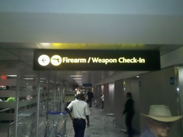 Firearm & weapon check in...