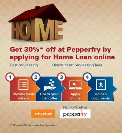 Pepperfry Offer - 30% OFF With Online Home Loan Application - ICICI Bank