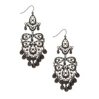 Black Chandelier Drop Earrings | Icing US