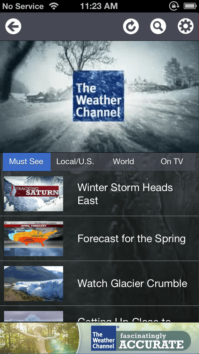 the weather channel radar not working