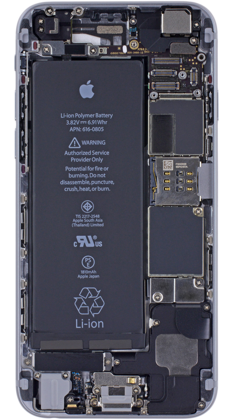 Iphone X Teardown Wallpaper X Ray Vision Internals Wallpaper For The Iphone 6 Iphone