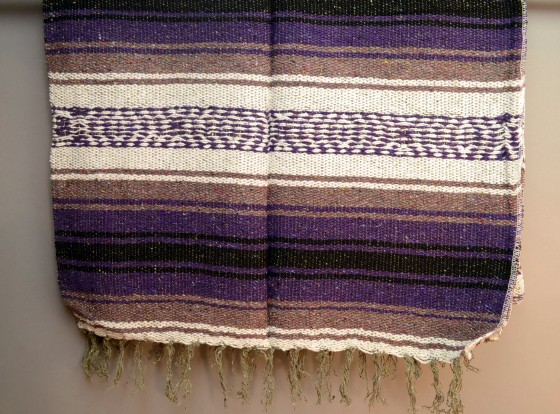Icolori Purple Mexican Scarf Or Table Runner Type