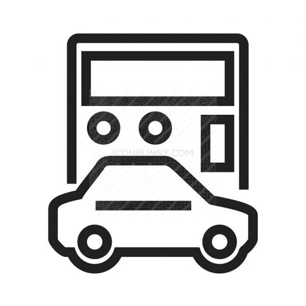 Auto Loan Calculator Line Icon - IconBunny