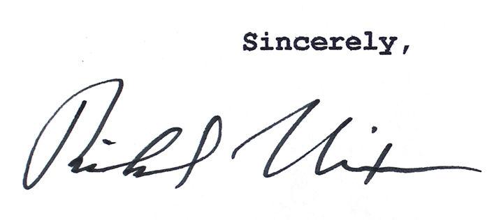 Lot Detail - Richard Nixon Signed Mock Presidential Resignation - nixon resignation letter