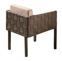Asthina Modern Outdoor Dining Chair with Woven Sides ...